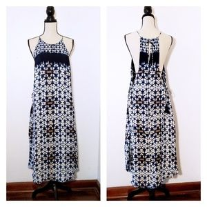 NWT ASTR Blue and White Maxi Dress